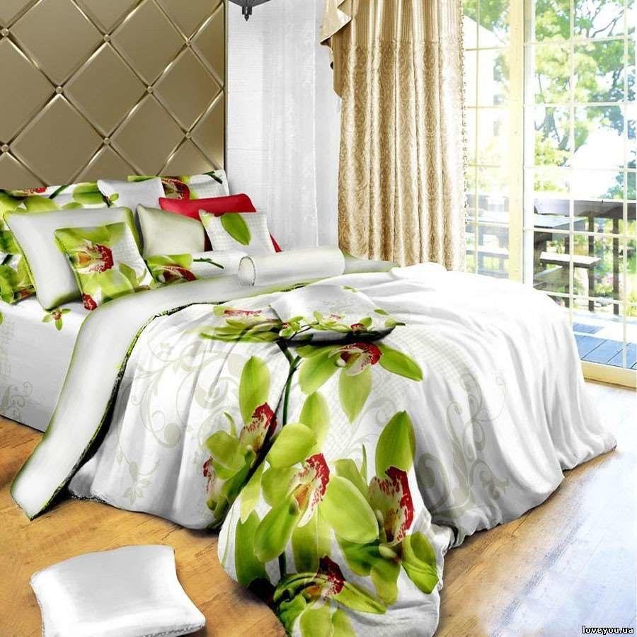53e5be6661d5 Постельное белье сатин LoveYou 160*220 полуторный размер Орхидея | в ...