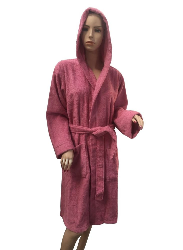 6d5884487787 Халат махровый женский Arya c капюшоном - Miranda soft сухая роза