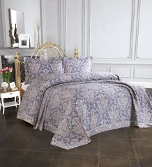 Покрывало Tropik Home 240*260 Pandora - Damask Navy Blue 1229-3