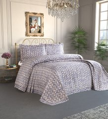 Покрывало Tropik Home 240*260 Pandora - Leaves Navy Blue 1229-9